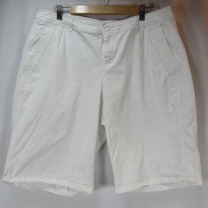 Lane Bryant White Stretch Bermuda Walking Shorts